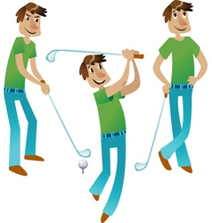 Happy Golfer set vector