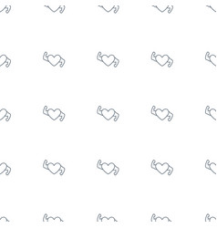 heart with muscles icon pattern seamless white vector image