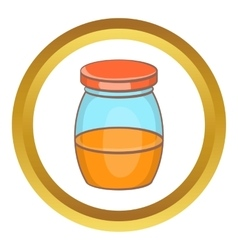 Honey jar icon vector