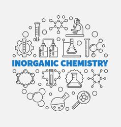 Inorganic chemistry round in vector