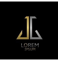 JG letters logo vector image