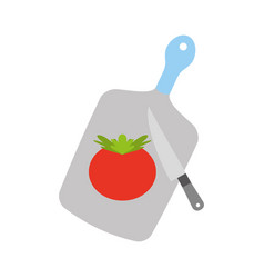 kitchen board with tomato vector image