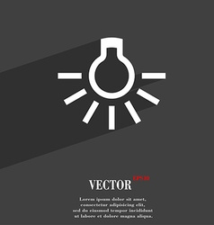 Light bulb icon symbol Flat modern web design with vector