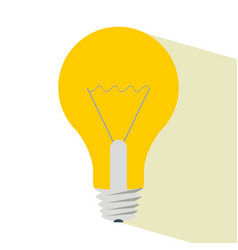 light bulb with shadow vector image