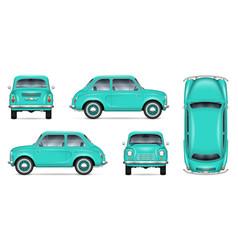 Little car mock-up vector