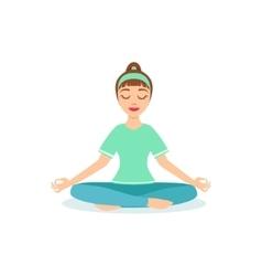 Lotus PAdmasana Yoga Pose Demonstrated By The Girl vector