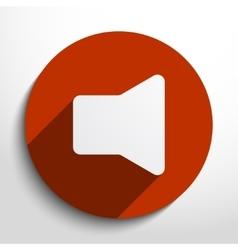 loudspeaker web icon vector image