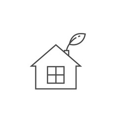 low energy house thin line icon vector image vector image