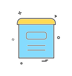 mail box icon design vector image
