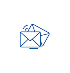 mailemailenvelope line icon concept mailemail vector image