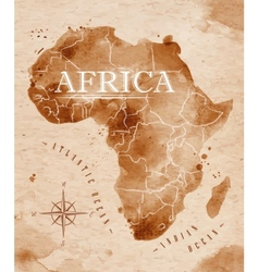 Map Africa retro vector image
