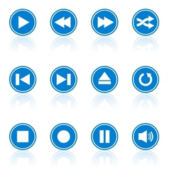 Media player buttons collection design elements vector image