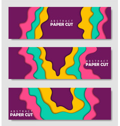 modern creative set posters with a 3d abstract vector image