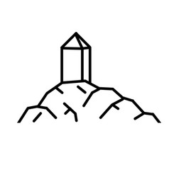 Mount arafat holy muslim place vector