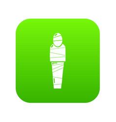 mummy egypt icon green vector image