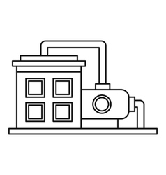 Oil refinery plant icon outline style vector