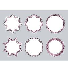 Ornamental frame vector