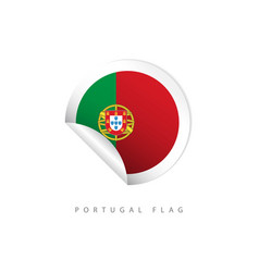 Portugal label flags template design vector