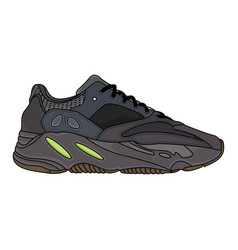 print fashion sports shoes vector image