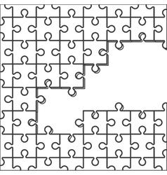 Puzzle pieces icon vector