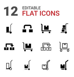 relocation icons vector image