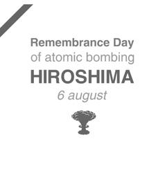 Remembrance day atomic bombing hiroshima 6 vector