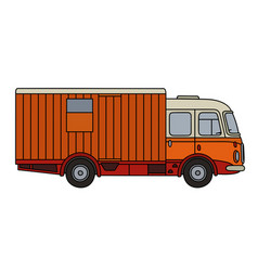 Retro moving wagon vector