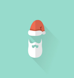 santa claus hat and beard vector image