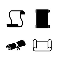 scrolls papers papyrus simple related icons vector image