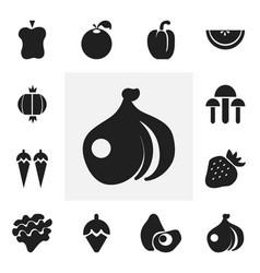 Set of 12 editable dessert icons includes symbols vector
