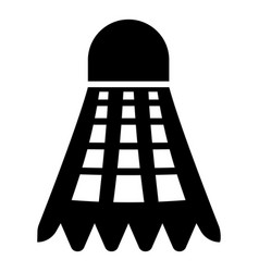 Shuttlecock icon black color flat style simple vector