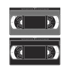 Silhouettes a video recorder tape video vector