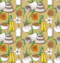 Sketch spa pattern vector image
