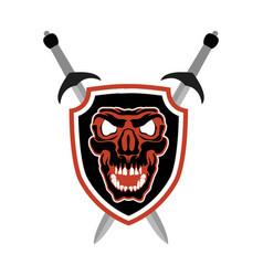 skull mascot head sport vector image