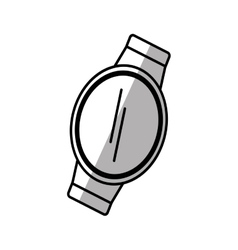 smart watch wearable gadget shadow vector image