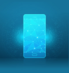 Smartphone a starry sky or space vector