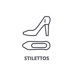 stilettos line icon outline sign linear symbol vector image