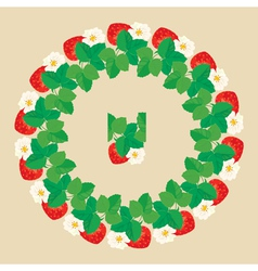 strawberry circle 2 380 vector image
