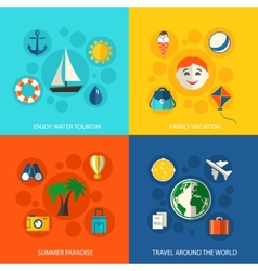 Summer travel vacation concept vector