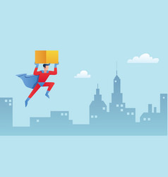superhero bringing box vector image