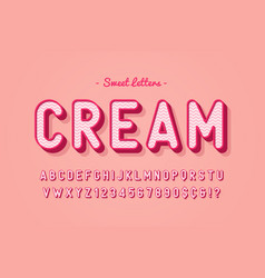 sweet candy font design alphabet typeface vector image