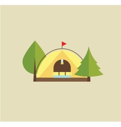 Tent camping vector