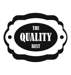 The quality best label icon simple style vector