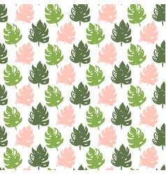 Tropic plant seamless pattern vector