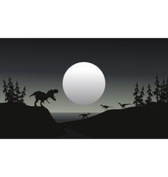 Tyranosaurus reptile silhouette vector