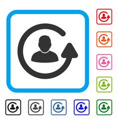 Update user framed icon vector