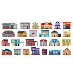 villa house cartoon set icon vector image
