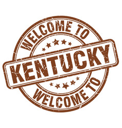 Welcome to kentucky brown round vintage stamp vector