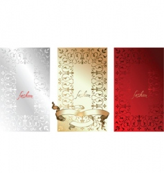 white red gold fashion backgrounds vector image