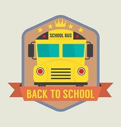 Back to School Badge vector image